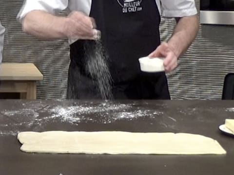 Set the dough aside and flour your workbench