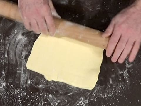 Roll out the butter into a square shape