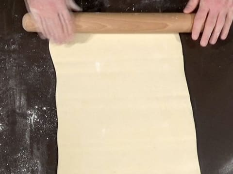 Roll out the dough into a rectangle