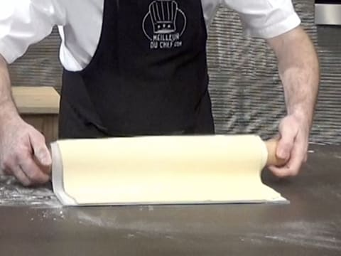 Unroll the puff pastry over a baking sheet