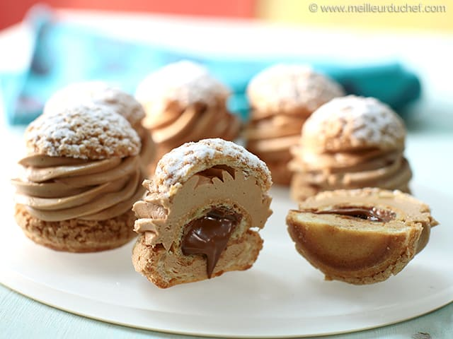 paris brest choux puffs recipe with images. Black Bedroom Furniture Sets. Home Design Ideas
