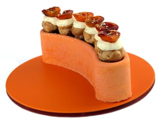 Peach & Apricot Mousse Cake