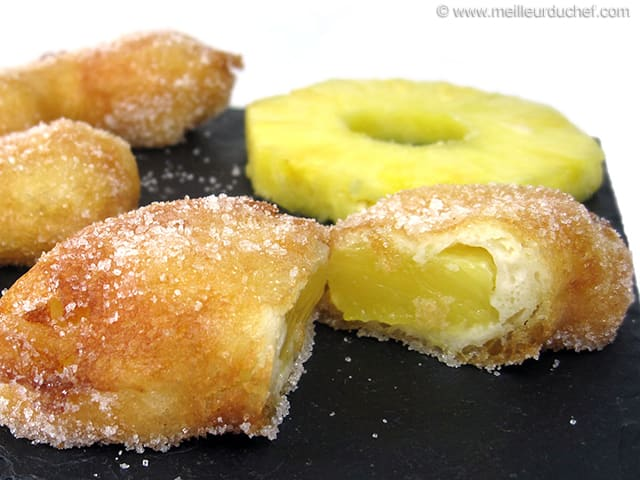 Pineapple Fritters - Recipe with images - MeilleurduChef.com