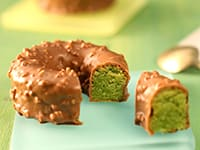 Pistachio Cake with Gianduja Coating