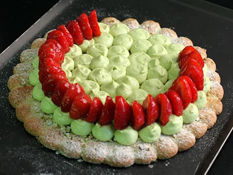 Pistachio Dacquoise with Strawberries - 76
