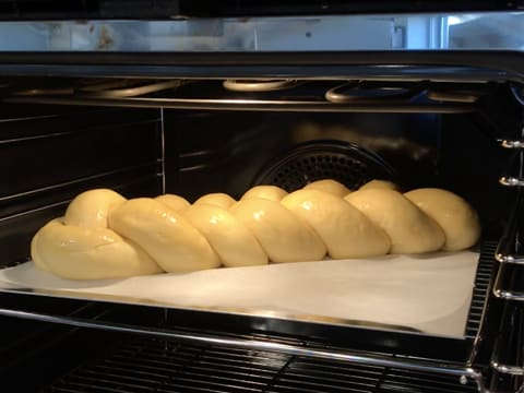 Place the brioche in the oven