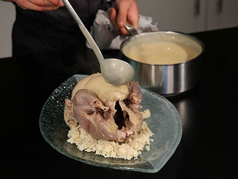 Poached Chicken with Sauce Suprême - 30