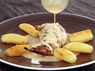 Rabbit with Mustard Sauce