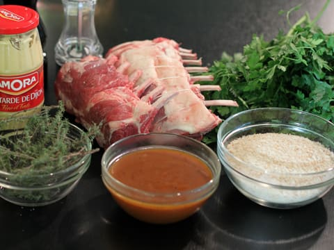 Rack of Lamb with Mustard & Parsley Crust - 1