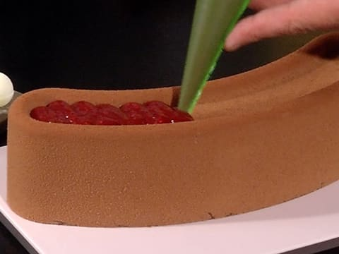 Raspberry & Chocolate Entremets - 54