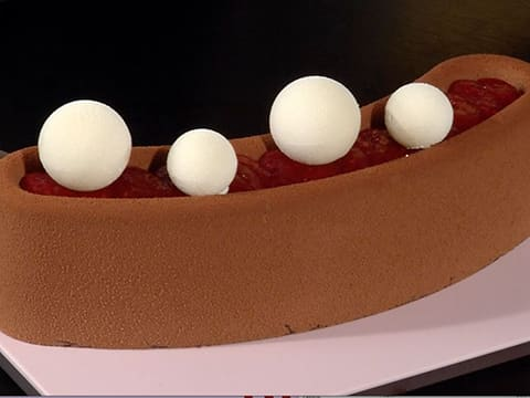 Raspberry & Chocolate Entremets - 57