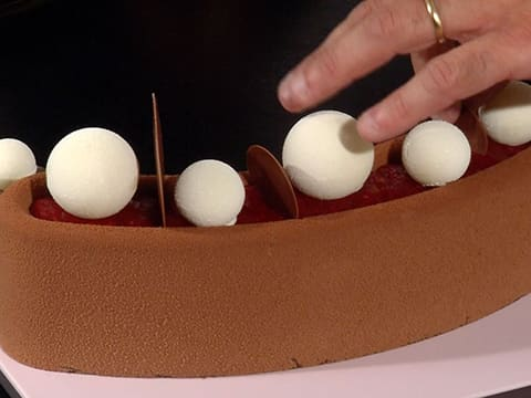 Raspberry & Chocolate Entremets - 58