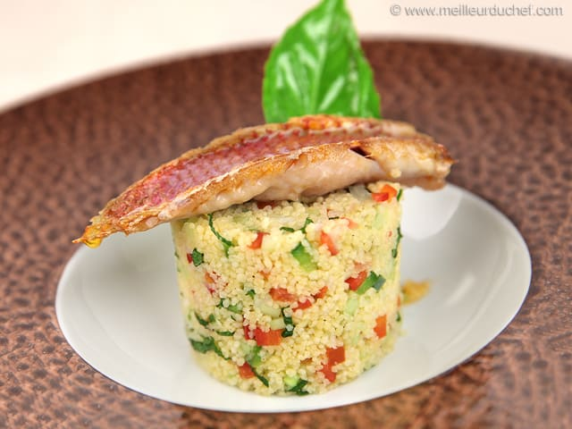 Red Mullet with Tabbouleh