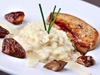 Risotto with Cep Mushrooms & Foie Gras