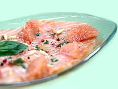 Salmon Carpaccio with Lime