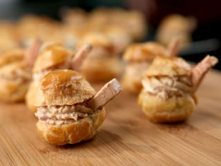 Choux Buns with Foie Gras Mousse
