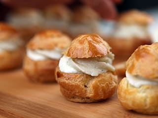 Choux Buns with Roquefort Mousse