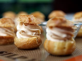 Choux Buns with Smoked Salmon Mousse