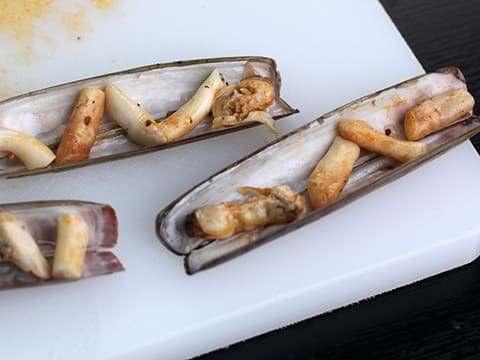 Scallops and Razor Clams in a Wasabi Crust - 31