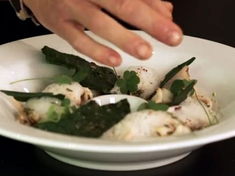 Seared Baby Squid with Cockles & Samphire - 42