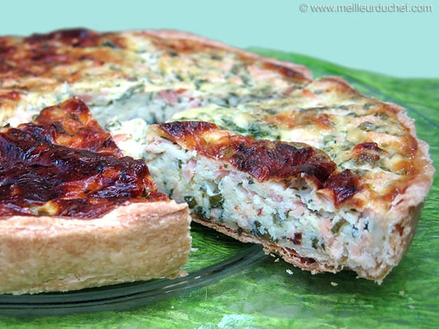 Smoked Salmon and Cheese Tart