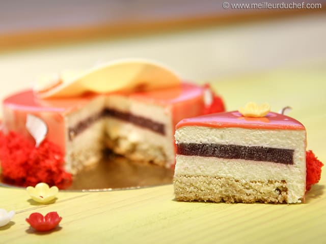 Strawberry, Coconut & Hibiscus Entremets