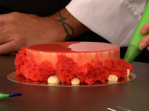 Strawberry, Coconut & Hibiscus Entremets - 83