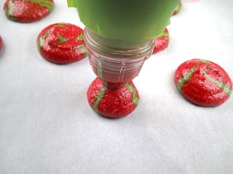 Strawberry & Pistachio Macarons with Chantilly Cream - 18
