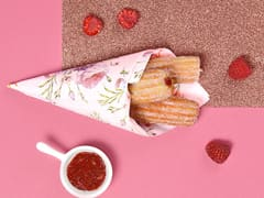 Strawberry & Raspberry-Filled Churros