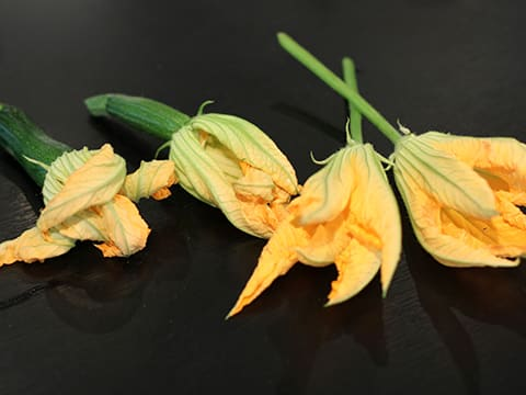 Stuffed Courgette Flowers - 11