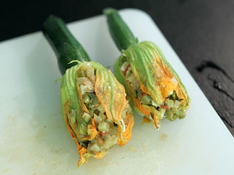 Stuffed Courgette Flowers - 16