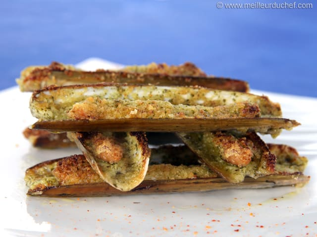 Stuffed Razor Clams with Flavoured Butter