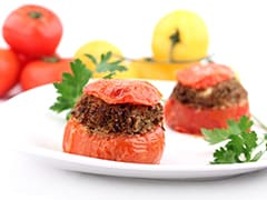 Stuffed Tomatoes with Oyster Mushrooms