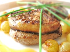 Veal Medallions with Foie Gras & Grapes