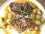 Veal Médaillons with Foie Gras & Grapes - 29