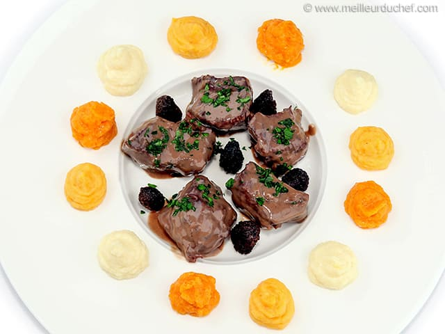 Venison Stew with Morels & Foie Gras