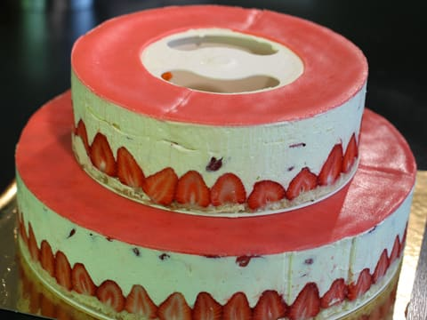 Fraisier Strawberry Wedding Cake - 133