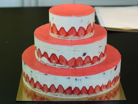 Fraisier Strawberry Wedding Cake - 137