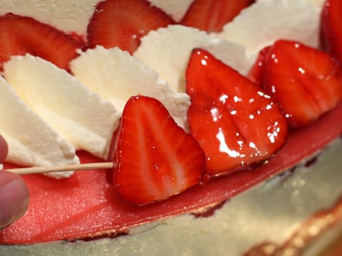 Fraisier Strawberry Wedding Cake - 151