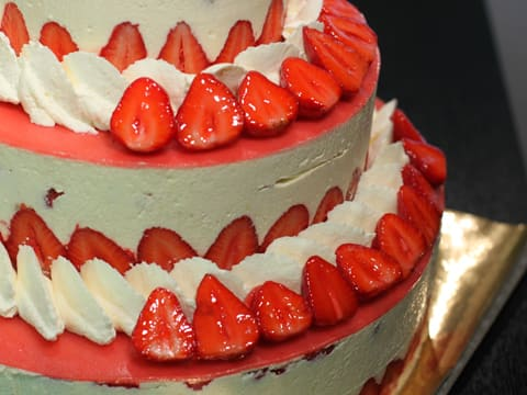 Fraisier Strawberry Wedding Cake - 152