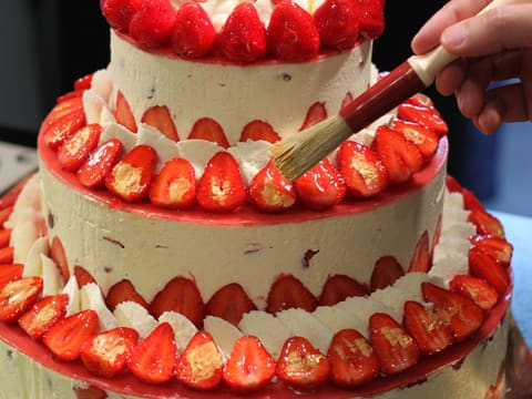 Fraisier Strawberry Wedding Cake - 154
