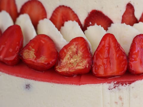 Fraisier Strawberry Wedding Cake - 155