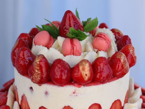 Fraisier Strawberry Wedding Cake - 156