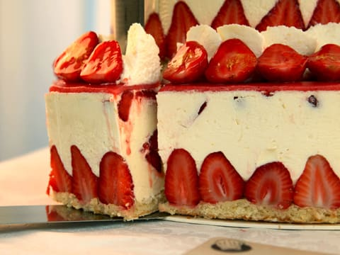 Fraisier Strawberry Wedding Cake - 158