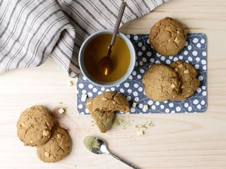 White Chocolate & Matcha Cookies