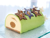 Yule Log with Granny Smith Apple Mousse