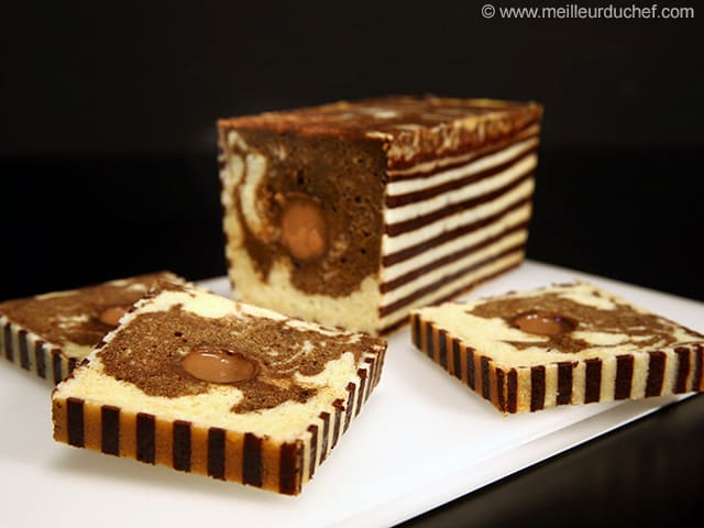 Zebra Loaf Cake, Chocolate & Coffee Insert